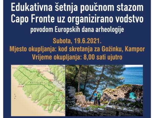 Edukativna šetnja stazom Capo Fronte!