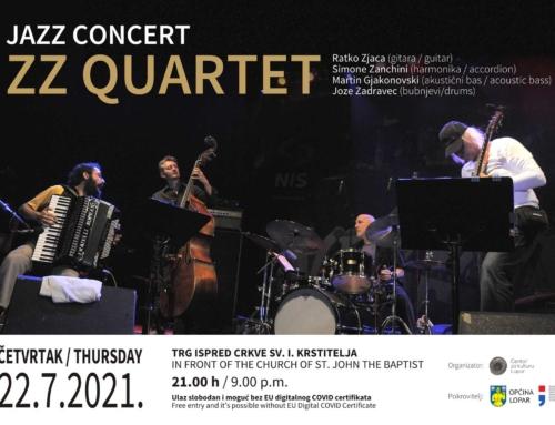 22.7. koncert ZZ Quarteta, trg ispred župne crkve Lopar u 21,00 h